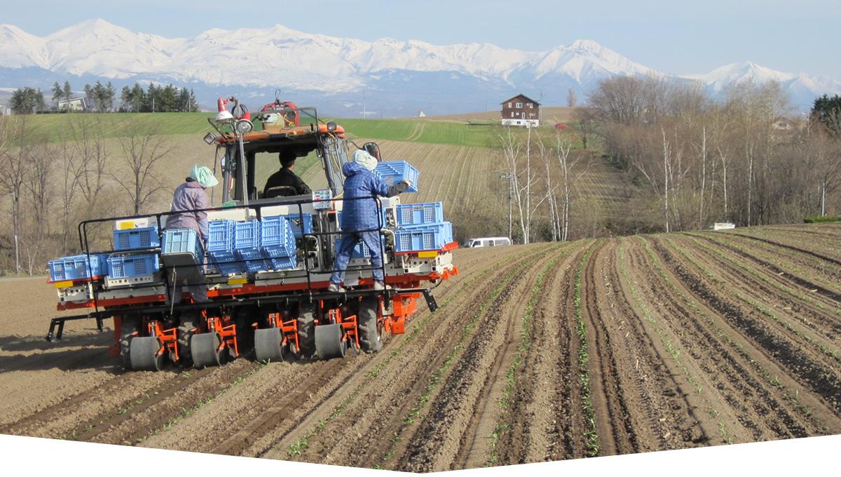 農業用機械使用例
